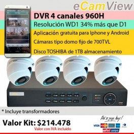 Kit DVR 4 cámaras